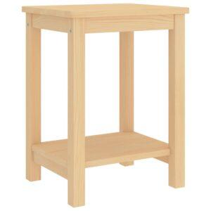 Mesa de cabeceira 35x30x47 cm madeira de pinho maciça clara - PORTES GRÁTIS