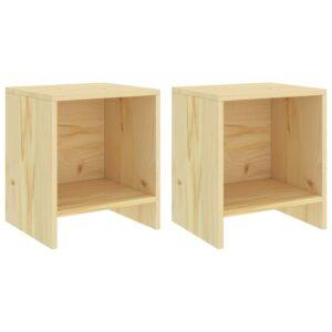 2 Mesas de cabeceira  35x30x40 cm madeira pinho maciça clara - PORTES GRÁTIS