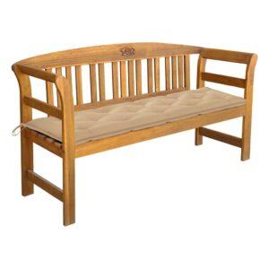 Banco de jardim com almofadão 157 cm madeira de acácia maciça - PORTES GRÁTIS