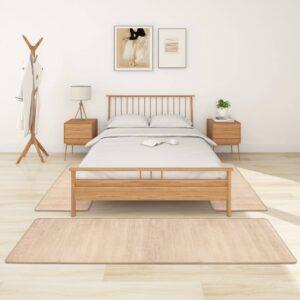 Tapetes de quarto shaggy pelo alto 3 pcs bege - PORTES GRÁTIS - 70 x 250 cm - 60 x 100 cm