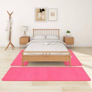 Tapetes de quarto shaggy pelo alto 3 pcs rosa - PORTES GRÁTIS - 70 x 250 cm - 70 x 140 cm