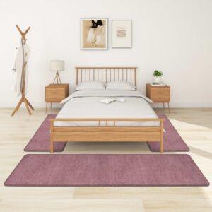 Tapetes de quarto shaggy pelo alto 3 pcs roxo - PORTES GRÁTIS - 70 x 250 cm - 70 x 140 cm