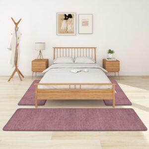Tapetes de quarto shaggy pelo alto 3 pcs roxo - PORTES GRÁTIS - 70 x 250 cm - 60 x 100 cm