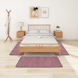 Tapetes de quarto shaggy pelo alto 3 pcs roxo - PORTES GRÁTIS - 70 x 140 cm - 60 x 100 cm