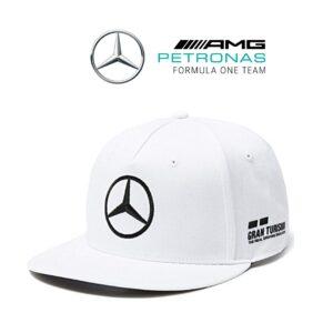 Mercedes® Boné Mercedes AMG Petronas Lewis Hamilton Flat Branco