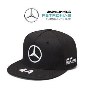 Mercedes® Boné Mercedes AMG Petronas Lewis Hamilton Flat Preto