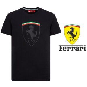 Ferrari® Camisola Mono Shield Graphic Preto - Tamanho M