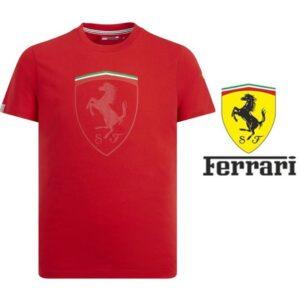 Ferrari® Camisola Mono Shield Graphic Vermelho- Tamanho L