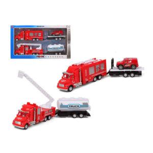 Conjunto veículos Camião de bombeiros Vermelho 119244 (2 Uds)