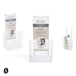 Organizador Multiusos Confortime Colar Branco 19 x 12 x 36 cm
