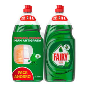 Fairy Pack 2 Ultra Original 780 ml + 780 ml Detergente Manual para a Louça