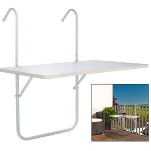 Mesa dobrável para varanda 60x40x1,2 cm branco - PORTES GRÁTIS