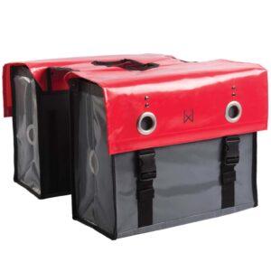 Willex Saco transporte bicicletas 52L vermelho e cinzento-escuro 10929 - PORTES GRÁTIS