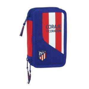 Estojo Triplo Atlético Madrid Azul (36 Peças)