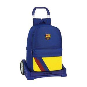 Mochila Escolar com Rodas Evolution F.C. Barcelona Azul