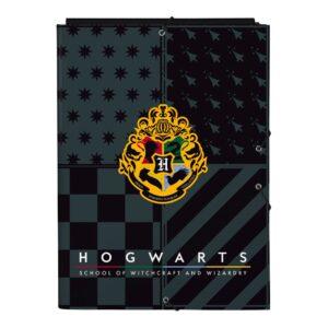 Pasta Harry Potter Howarts Preto Cinzento A4