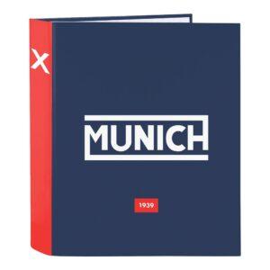 Pasta com argolas Munich Spike Azul Marinho