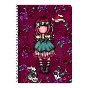 Caderno de Argolas Gorjuss Mary Rose A4 Grená