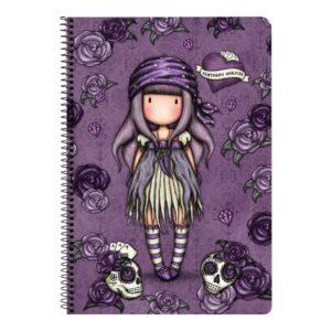 Caderno de Argolas Gorjuss Sea Nixie Roxo A4