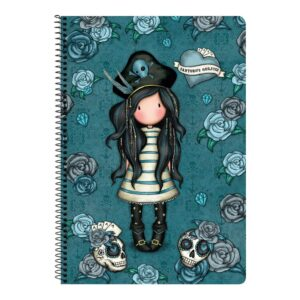 Caderno de Argolas Gorjuss Black Pearl Turquesa A4