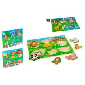 Puzzle Animais Madeira (7 pcs)