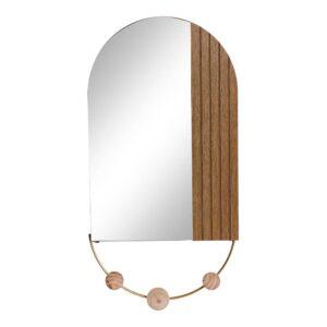 Bengaleiro de parede DKD Home Decor Metal Cristal (30 x 4 x 60.5 cm)