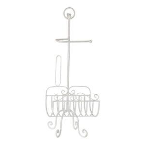 Porta-Rolos de Papel Higiénico DKD Home Decor Branco Metal (32 x 27.5 x 82 cm)