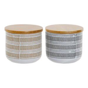 Organizador DKD Home Decor Algodão Bambu Grés (2 pcs) (320 ml)