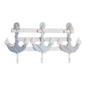 Bengaleiro de parede DKD Home Decor Metal Madeira MDF (54 x 5 x 29 cm)