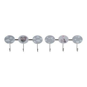 PACK 2 Bengaleiros de parede DKD Home Decor Madeira Metal (40 x 5 x 17 cm)