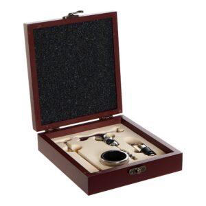 Set de vinho com saca-rolhas e acessórios DKD Home Decor Aço inoxidável Madeira MDF (4 pcs)