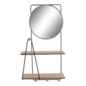 Bengaleiro de parede DKD Home Decor Metal Espelho Madeira MDF (48.5 x 19 x 91.5 cm)