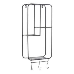 Estantes DKD Home Decor Bengaleiro Preto Metal (30 x 15 x 72 cm)