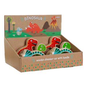 Jogo de madeira DKD Home Decor Dinossauros (3 pcs)
