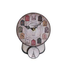 Relógio de Parede DKD Home Decor Pêndulo Ferro Madeira MDF (14 x 5 x 19 cm)