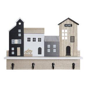 Estantes DKD Home Decor Bengaleiro Madeira (39 x 9 x 27 cm)
