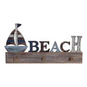 Bengaleiro de parede DKD Home Decor Beach Madeira MDF (51 x 5.5 x 26.5 cm)