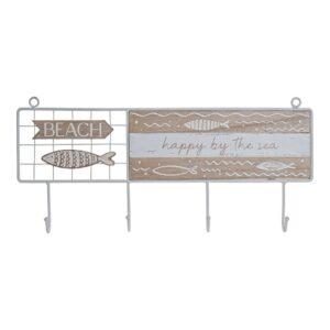 Bengaleiro de parede DKD Home Decor Metal Madeira MDF (40 x 4 x 18 cm)