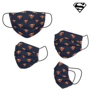 Máscara Higiénica em Tecido Reutilizável Superman Infantil Azul