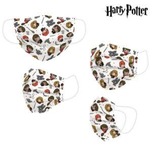 Máscara Higiénica em Tecido Reutilizável Harry Potter Bege