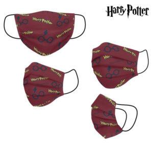 Máscara Higiénica em Tecido Reutilizável Harry Potter Infantil Vermelho