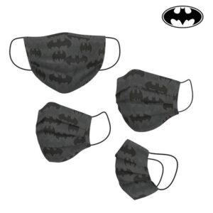 Máscara Higiénica em Tecido Reutilizável Batman Adulto Cinzento