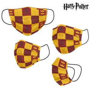Máscara Higiénica em Tecido Reutilizável Harry Potter Infantil Amarelo