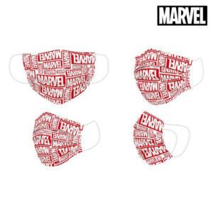 Máscara Higiénica Marvel + 11 Anos Vermelho