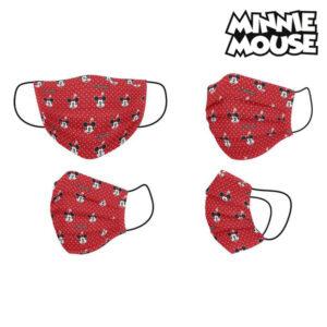 Máscara Higiénica Minnie Mouse + 11 Anos Vermelho