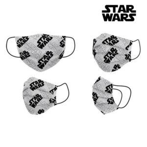 Máscara Higiénica Star Wars + 11 Anos Cinzento