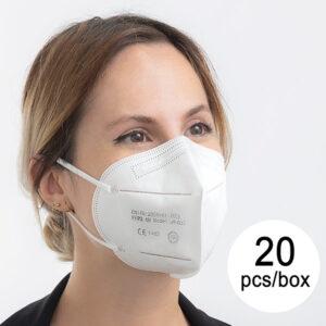 Máscara de Proteção Respiratória FFP3 NR JH-032 5 camadas (Pack de 20)