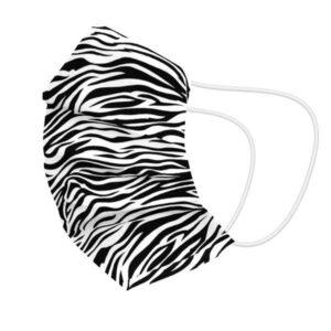 Máscara Higiénica em Tecido Reutilizável Zebra Adulto