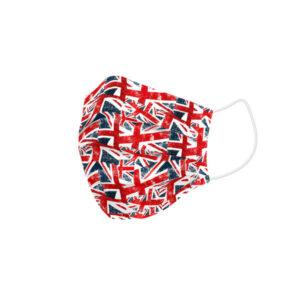 Máscara Higiénica em Tecido Reutilizável UK Flags Adulto