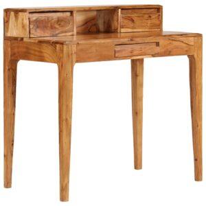 Secretária com gavetas madeira maciça 88x50x90 cm - PORTES GRÁTIS